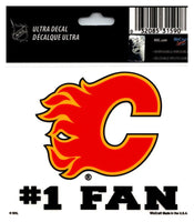 (HCW) Calgary Flames #1 Fan Coloured Decal Sticker 3