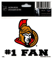 (HCW) Ottawa Senators #1 Fan Coloured Decal Sticker 3