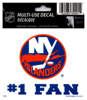 (HCW) New York Islanders #1 Fan Coloured Decal Sticker 3