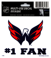 (HCW) Washington Capitals #1 Fan Coloured Decal Sticker 3