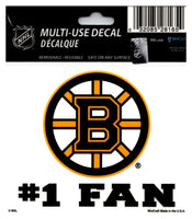 (HCW) Boston Bruins #1 Fan Coloured Decal Sticker 3