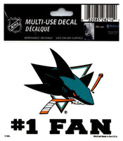 (HCW) San Jose Sharks #1 Fan Coloured Decal Sticker 3