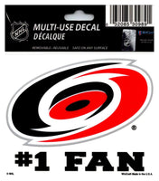 (HCW) Carolina Hurricanes #1 Fan Coloured Decal Sticker 3