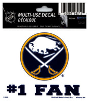 (HCW) Buffalo Sabres #1 Fan Coloured Decal Sticker 3