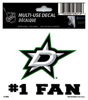 (HCW) Dallas Stars #1 Fan Coloured Decal Sticker 3