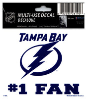 (HCW) Tampa Bay Lightning #1 Fan Coloured Decal Sticker 3