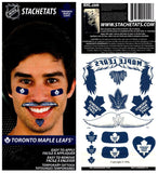 (HCW) Toronto Maple Leafs Temporary Tattoos Stachetats NHL Sheet