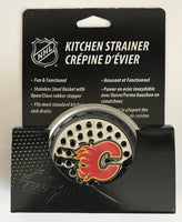 (HCW) Calgary Flames Stainless Steel Kitchen Sink NHL Strainer