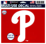 "(HCW) Philadelphia Phillies Multi-Use Decal Sticker MLB 5""x6"" Baseball"