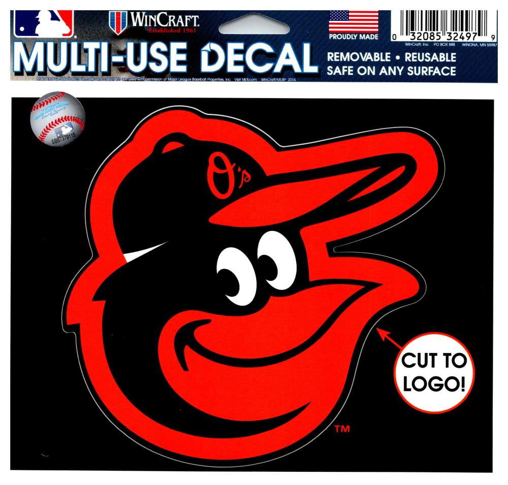 "(HCW) Baltimore Orioles Multi-Use Decal Sticker MLB 5""x6"" Baseball"