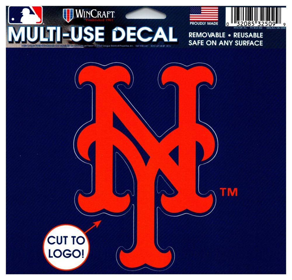 "(HCW) New York Mets Multi-Use Decal Sticker MLB 5""x6"" Baseball"