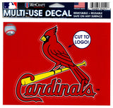"(HCW) St. Louis Cardinals Multi-Use Decal Sticker MLB 5""x6"" Baseball"