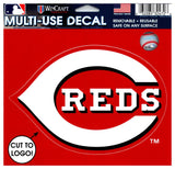"(HCW) Cincinnati Reds Multi-Use Decal Sticker MLB 5""x6"" Baseball"