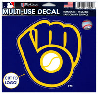 (HCW) Milwaukee Brewers Multi-Use Decal Sticker MLB 5
