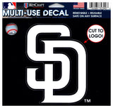 "(HCW) San Diego Padres Multi-Use Decal Sticker MLB 5""x6"" Baseball"