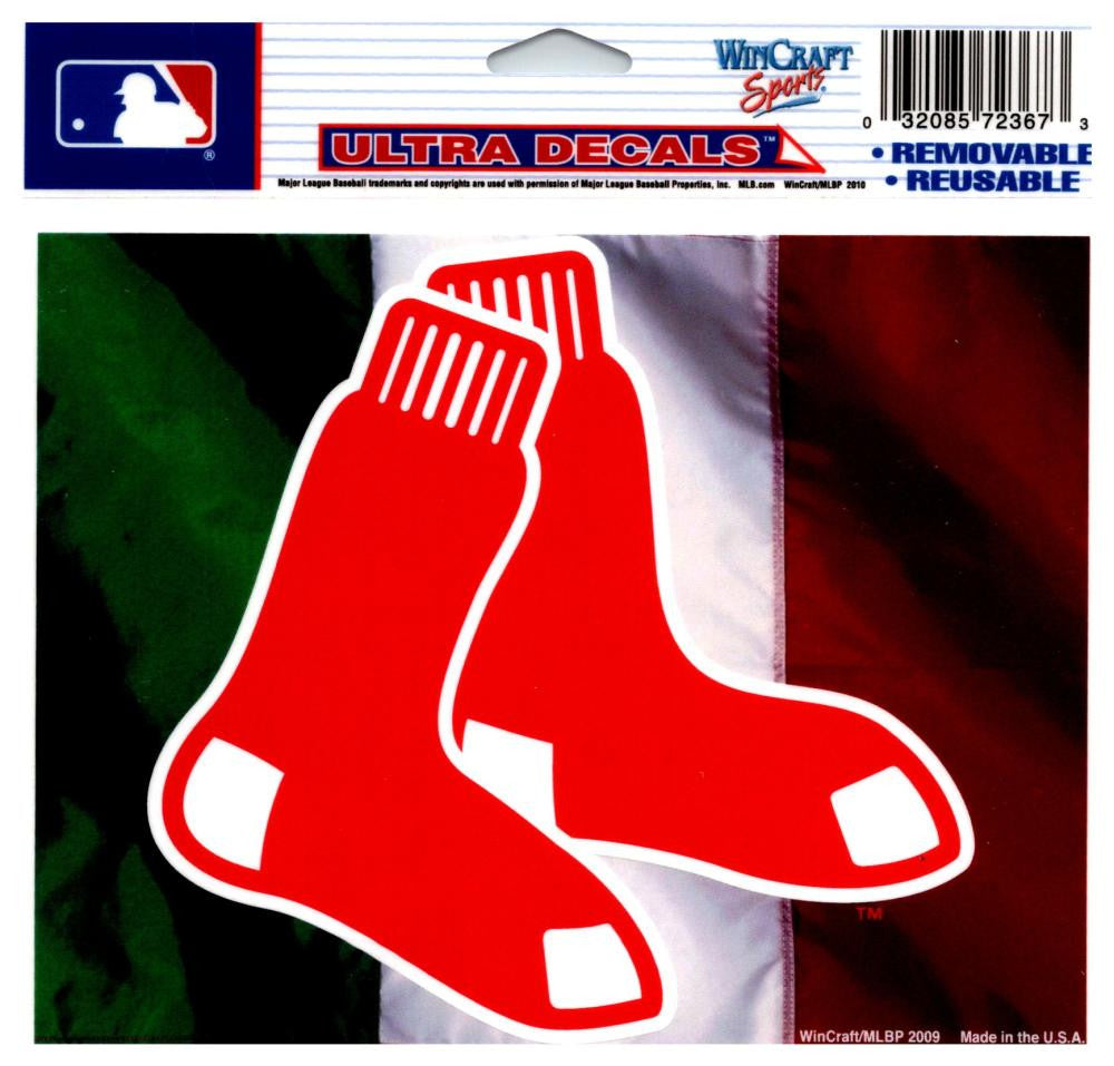 "(HCW) Boston Red Sox Italy Multi-Use Decal Sticker MLB 5""x6"" Baseball"