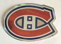 (HCW) Montreal Canadiens Prismatic Coloured Decal Sticker 4
