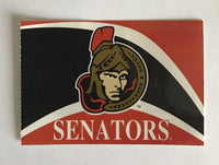 (HCW) Ottawa Senators Banner Coloured Decal Sticker 4