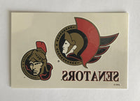 (HCW) Ottawa Senators #1 Banner Coloured Tattoo Sticker 4