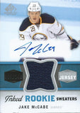 2014-15 SP Game Used Inked Rookie Sweaters 69/149 Jake McCabe NHL 02994