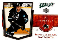 (HCW) 2007-08 Upper Deck MVP Monumental Moments #MM8 Joe Thornton 03047