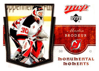 (HCW) 2007-08 Upper Deck MVP Monumental Moments #MM4 Martin Brodeur 03048