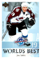 (HCW) 2004-05 Upper Deck World's Best #WB1 Joe Sakic NHL Hockey 03050
