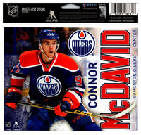 (HCW) Connor McDavid Edm Oilers Multi-Use Coloured Decal Sticker 5