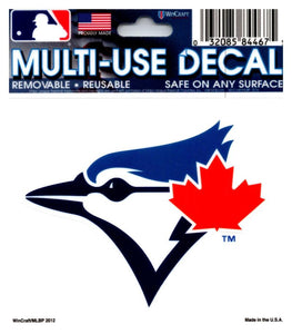 "(HCW) Toronto Blue Jays Multi-Use 3""x3.5"" Decal Sticker MLB Baseball"