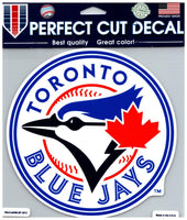 (HCW) Toronto Blue Jays Perfect Cut Colour 8x8 Large Decal Sticker MLB