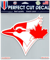 (HCW) Toronto Blue Jays (Red) Perfect Cut Colour 8x8 Large Decal Sticker MLB