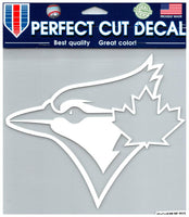 (HCW) Toronto Blue Jays (White) Perfect Cut Colour 8x8 Large Decal Sticker MLB