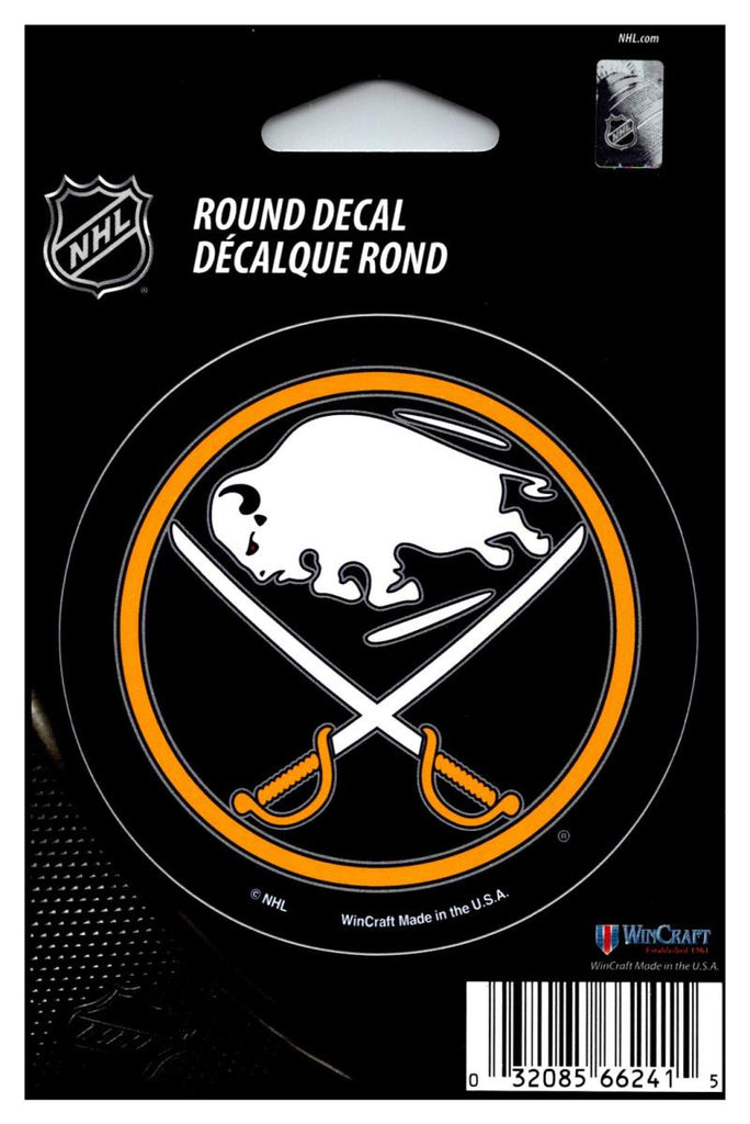 "(HCW) Buffalo Sabres (old) 3"" Round Vinyl Decal Sticker NHL Licensed In/Outdoor"