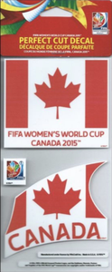 Canada Fifa World Cup Women's Perfect Cut Decal/Sticker Set of 2 4x4
