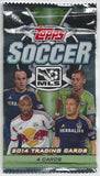 2014 Topps MLS Soccer Cards Pack - Look for Auto, Jersey, Dual Cards