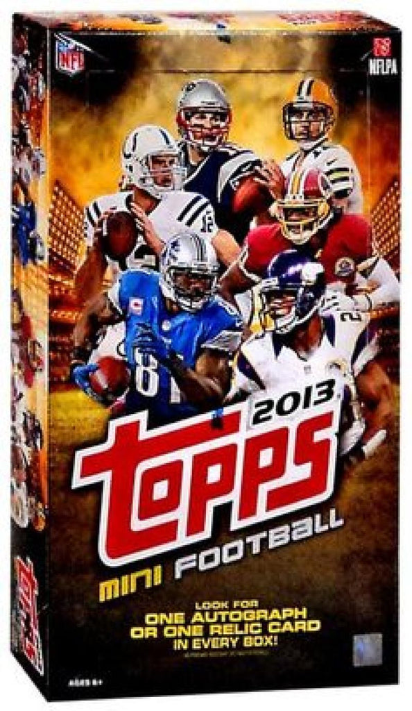 2013 Topps Mini Cards Football Hobby Box - 1 Auto/1 Memorabilia box.