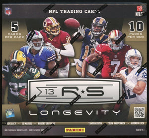 2013 Panini Rookies and Stars Longevity Football Hobby Box - 4 Autos/Mem
