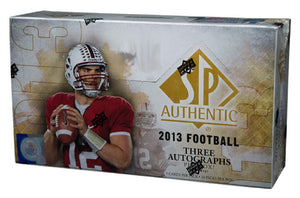 2013 Upper Deck SP Authentic Football Hobby Box - 24 packs - 3 Autos Box