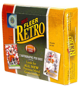 2013 Upper Deck Fleer Retro Football Hobby Box - 2 Autos/4 Inserts Box