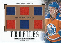 (HCW) 2015-16 Upper Deck Portfolio Materials Six Jersey Connor McDavid RC Rookie