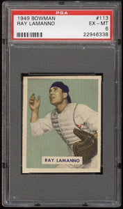 1949 Bowman #113 RAY LAMANNO PSA 6 Baseball Card MLB
