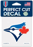"Wincraft Toronto Blue Jays Perfect Cut Decal MLB 4""x 4"" In/Outdoor Sticker"