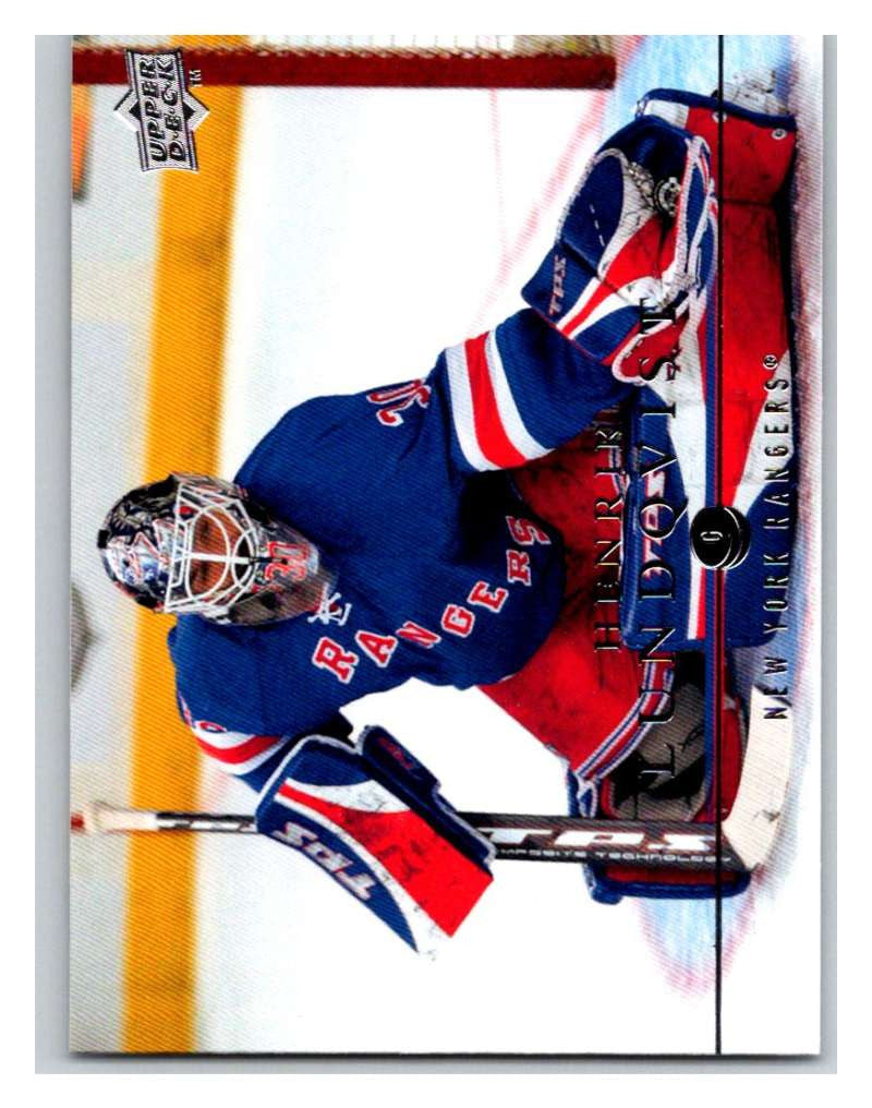 2008 09 Upper Deck 74 Henrik Lundqvist Ny Rangers Hockey Card