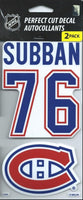 Montreal Canadiens P.K. Subban Perfect Cut Decal/Sticker Set of 2 NHL 4x4