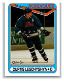 1990-91 O-Pee-Chee #216 Curtis Leschyshyn Mint RC Rookie