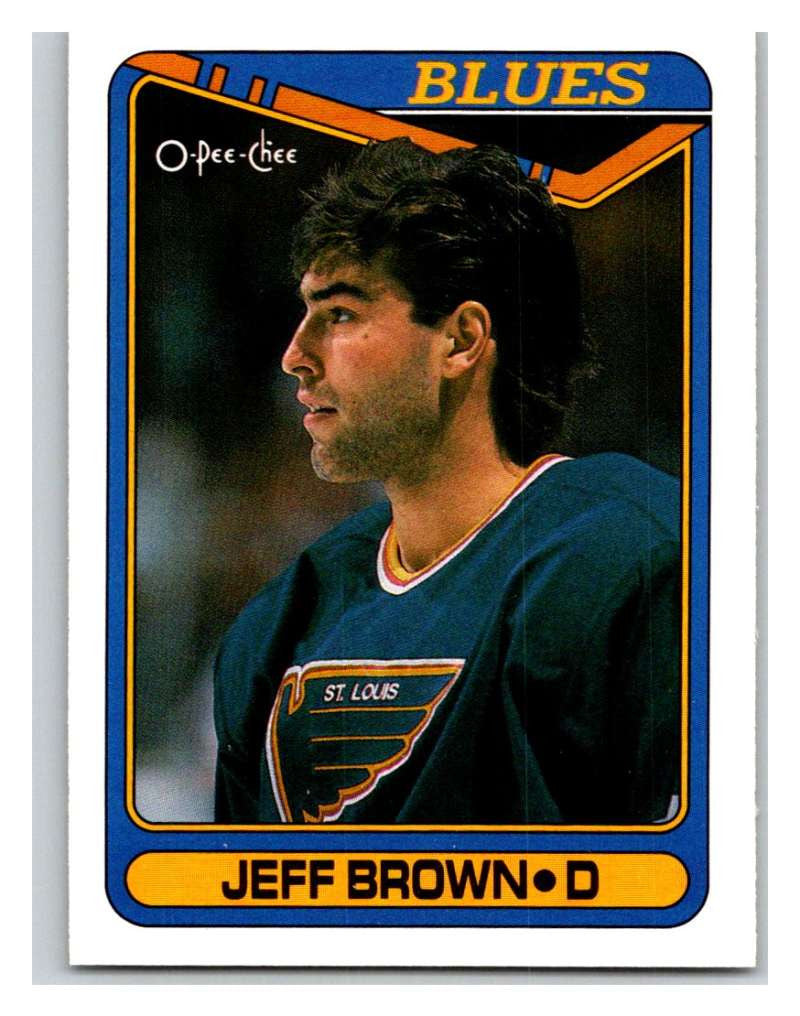 1990-91 O-Pee-Chee #295 Jeff Brown Mint