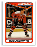 1990-91 O-Pee-Chee #353 Rod Langway Mint