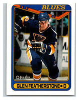 1990-91 O-Pee-Chee #387 Glen Featherstone Mint