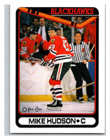 1990-91 O-Pee-Chee #424 Mike Hudson Mint RC Rookie