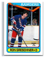 1990-91 O-Pee-Chee #447 Ron Greschner Mint
